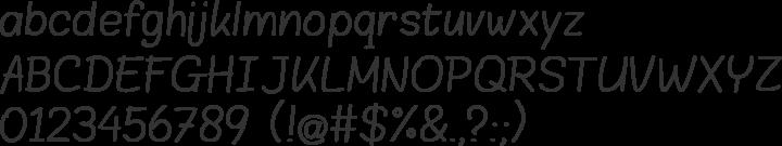 Blokletters Font Specimen