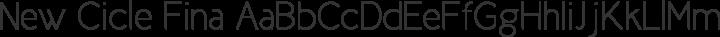 New Cicle Fina free font