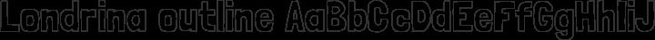 Londrina outline free font