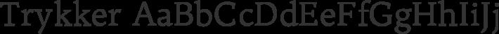 Trykker font family by Sorkin Type Co