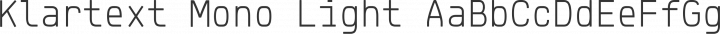 Klartext Mono Light free font