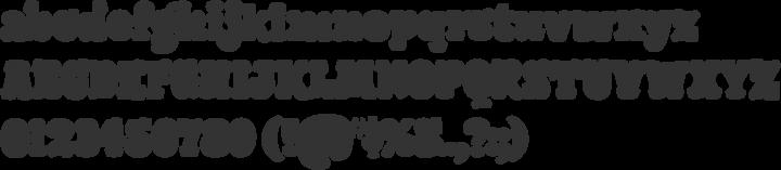 Giant Head OT Font Specimen