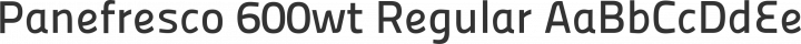Panefresco 600wt Regular free font