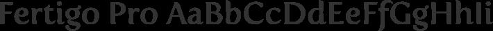 Fertigo Pro font family by Exljbris