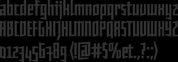 Daela Font Specimen