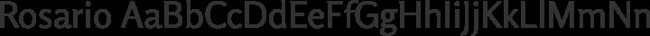 Rosario Regular free font