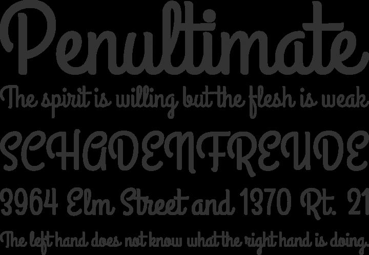 Grand Hotel Font Phrases
