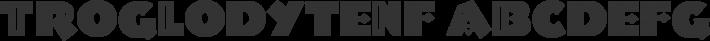TroglodyteNF font family by Nick's Fonts