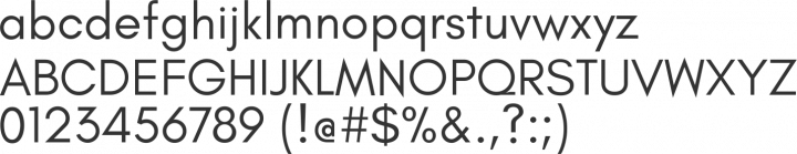 Glacial Indifference Font Specimen