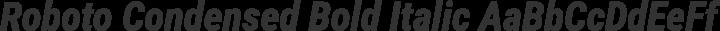 Roboto Condensed Bold Italic free font