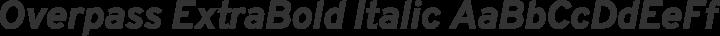 Overpass ExtraBold Italic free font