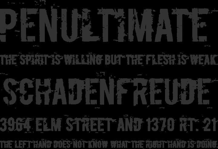 Boycott Font Phrases