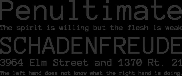 Anonymous Pro Font Phrases