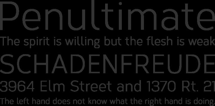 Corbert Condensed Font Phrases