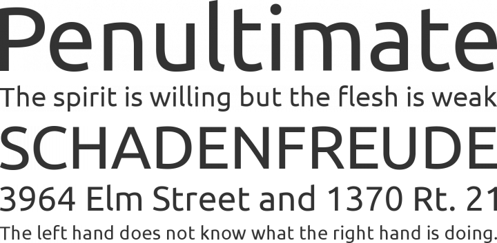 Ubuntu Font Phrases