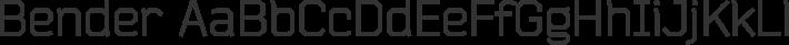 Bender font family by Jovanny Lemonad
