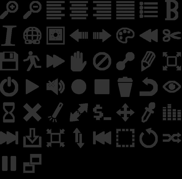 Heydings Controls Dingbat Font Specimen