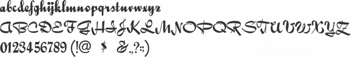 QuigleyWiggly Font Specimen