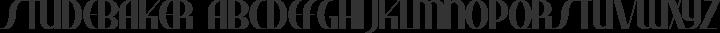 Studebaker Regular free font