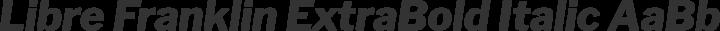 Libre Franklin ExtraBold Italic free font