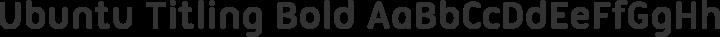 Ubuntu Titling Bold free font