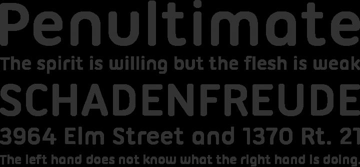 Ubuntu Titling Font Phrases