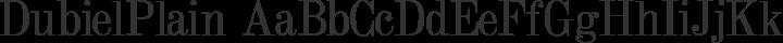 DubielPlain Regular free font