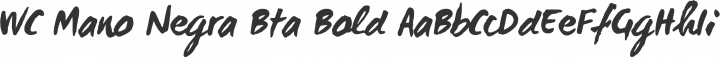 WC Mano Negra Bta Bold free font