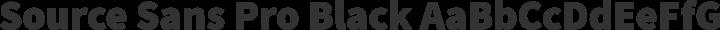 Source Sans Pro Black free font