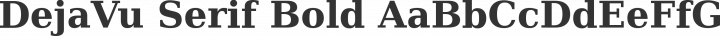 DejaVu Serif Bold free font