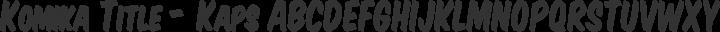 Komika Title - Kaps Regular free font
