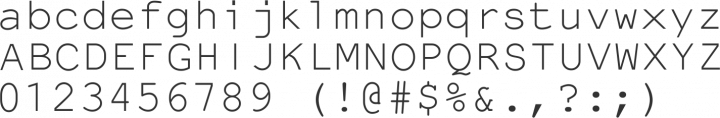 NotCourierSans Font Specimen