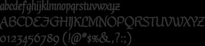 Gothic Ultra OT Font Specimen