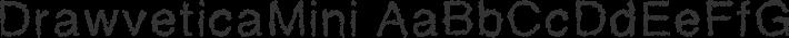 DrawveticaMini font family by Alexander Kaiser