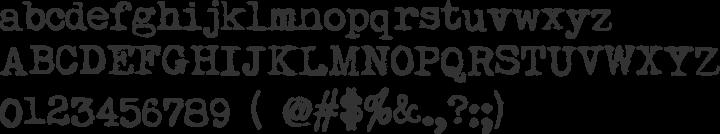 My Underwood Font Specimen