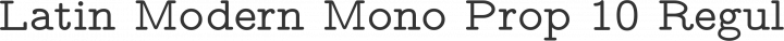Latin Modern Mono Prop 10 Regular free font