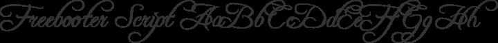 Freebooter Script Regular free font