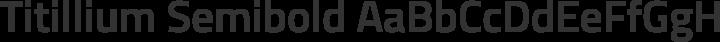 Titillium Semibold free font