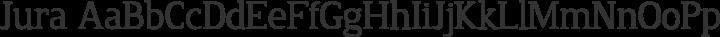 Jura Regular free font