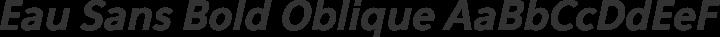 Eau Sans Bold Oblique free font