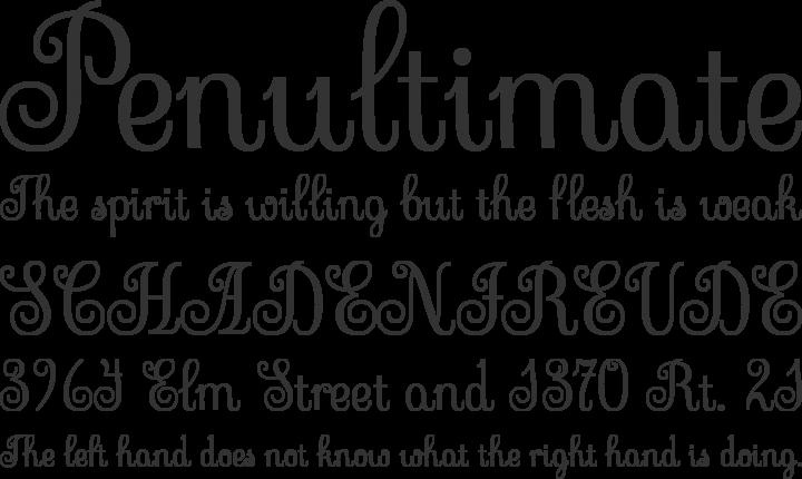 Sevillana Font Phrases