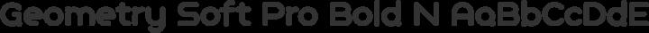 Geometry Soft Pro Bold N free font