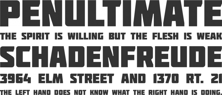 Molot Font Phrases