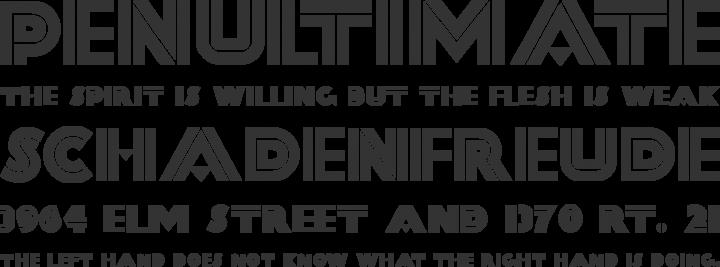 FortySecondStreet Font Phrases