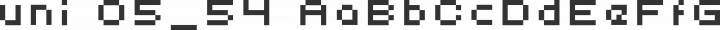 uni 05_54 Regular free font