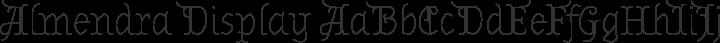 Almendra Display Regular free font