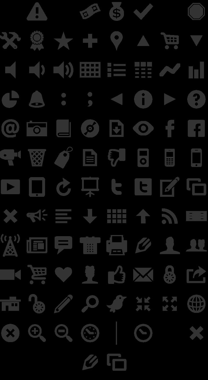 Modern Pictograms Dingbat Font Specimen