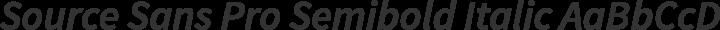 Source Sans Pro Semibold Italic free font