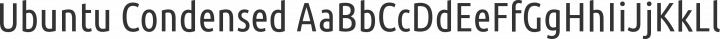 Ubuntu Condensed Regular free font