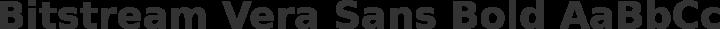 Bitstream Vera Sans Bold free font